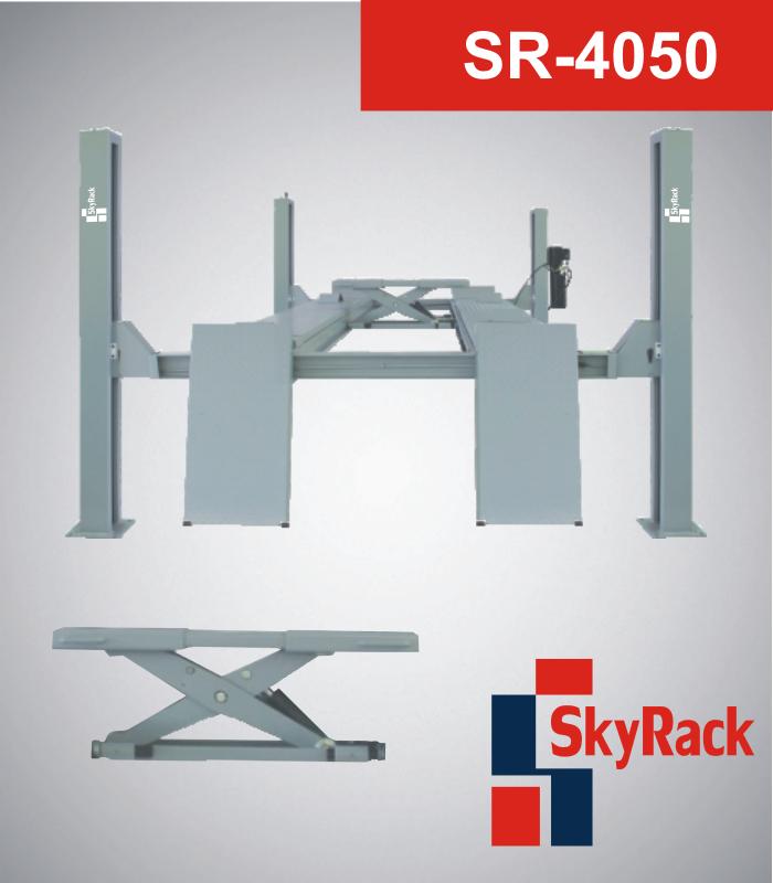 Оборудование для автосервиса по акционным ценам - четырехстоечные электрогидравлические подъемники SkyRack
