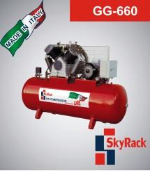 GG-660 Компрессор поршневой с ременной передачей (380В, ресивер 500 л)